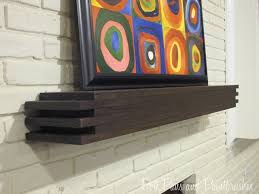 How To Build Fireplace Mantel Shelf - modern floating mantel shelf remodelaholic pertaining to diy