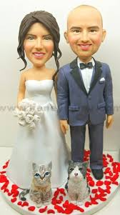 custom wedding cake toppers custom wedding cake topper with cat pets bw54 my custom