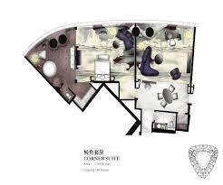 typical corridor plan for four seasons hotel guangzhou designed