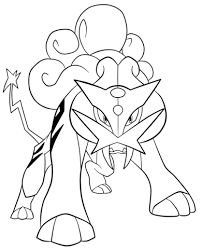 togepi coloring pages click to see printable version of raikou pokemon coloring page