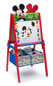 Mickey Mouse Activity Table Disney Mickey Mouse Wooden Double Sided Easel With Storage Toys