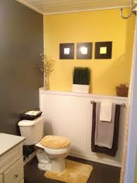 Yellow And Grey Bathroom Ideas Grey And Yellow Bathroom Ideas Half Bath Pinterest