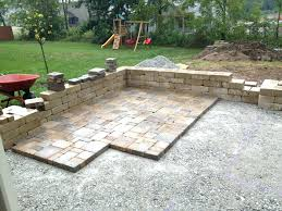 Brick Patio Diy by Patio How To Make A Stone Patio On Grass Diy Flagstone Patio