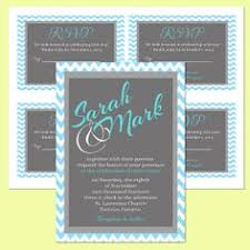 wedding wishes reply blue gray white wedding invitation set personalized