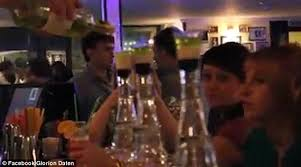 moscow bartender accidentally engulfs woman in flames in video