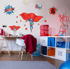 wall stickers super heroes blue and dog