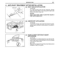 2009 2010 toyota corolla body repair manual