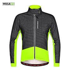 warm cycling jacket wosawe thermal cycling jacket winter warm bicycle clothing windproof