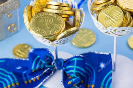 where to buy hanukkah gelt hanukkah decoration with chocolate gelt coins stock photo