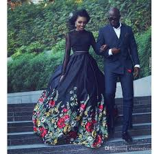 black floral print ball gown evening dresses long 2017 long