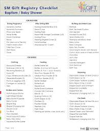 baby gift registry list checklist template free word pdf documents creative