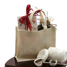 burlap gift bags browse and shop burlap mini tote bags white 7 x 6 x 2 3 4