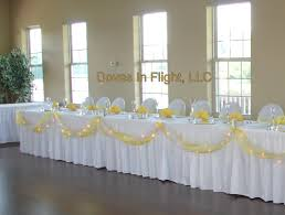 how to use tulle to decorate a table tulle table runner hawk hollow head table bright yellow ribbons