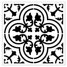 Kitchen Stencils Designs by Reusable Laser Cut Small To Large Floor Or Wall Tile Stencil 30