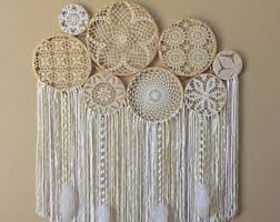 Large Home Decor Large Crochet Dream Catcher Wall Hanging Doily Dream Catcher