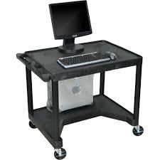 Movable Computer Desk Luxor Mobile Computer Workstation Computer Stand For Desk On