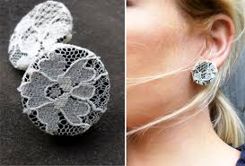 make your own earrings studs diy lace earrings