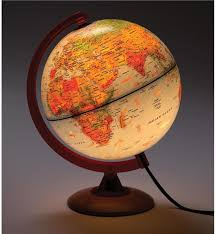 earth globes that light up illuminated tabletop globe with topography magic cabin