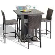 outdoor pub table sets bar height patio sets