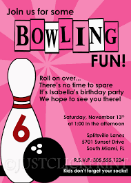 bowling birthday party invitations free printable invitation design