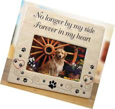 pet memorial ceramic picture frame no longer by my side forever in