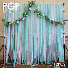 mint green streamers pgp blue crepe paper streamers for wedding kids frozens