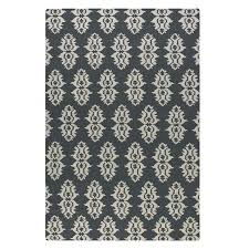 Brown And Gray Area Rug Spanish Blue U0026 Gray Wool Trellis Area Rug Zin Home