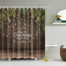 Bathroom Decor Shower Curtains Coffee L New Year Bathroom Decor Shower Curtain