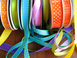 spools of ribbon the crafty one the strong