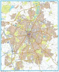 Leicester England Map by Mapsherpa Geographer U0027s A Z Map Company