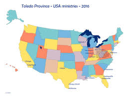 Ohio Map Us by United States Ministries Sisters Of Notre Dame Toledo Province