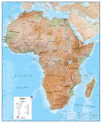 africa map physical africa wall map physical