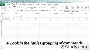 page layout program exles how to create a table in an excel worksheet video lesson