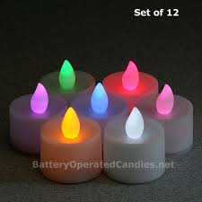 flameless color changing led battery operated set of 12 buy now