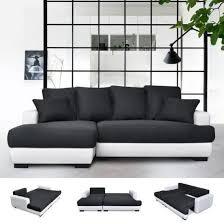 canap lit angle canapé d angle gauche canapé lit convertible avec coffre en tissu