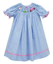 this blue golf smocked bishop dress infant toddler is