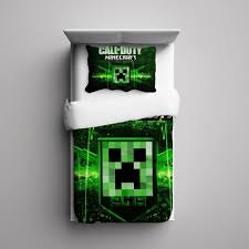 Minecraft Bedding For Kids Call Of Duty Minecraft Creeper 06 Fleece Blanket And Pillow Case