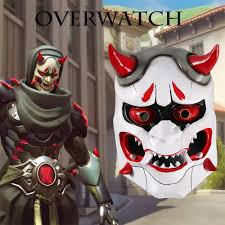 aliexpress com buy game ow genji u0027s oni evil ghost face mask