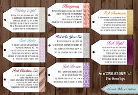 baby shower gift basket poem instant 1st milestone wine tags poems digital file