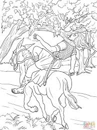 absalom death coloring page free printable coloring pages