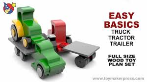 wood toy plans farmtruck tractor u0026 trailer youtube