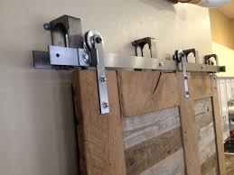 Vintage Sliding Barn Door Hardware by Reclaimed Oak And Pabst Blue Ribbon Factory Floor Bypass Sliding