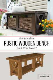 How To Make A Picnic Table Bench Cover by Best 25 Rustic Bench Ideas On Pinterest Rustic Wood Bench