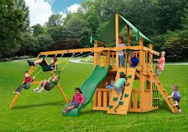 wooden swing sets cedar pine redwood fenceworks