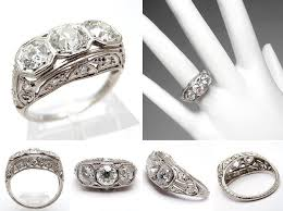 vintage 3 stone wedding rings u2013 jewelry