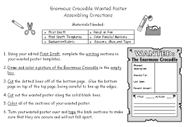 enormous crocodile lesson plans author roald dahl