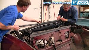 how to install replace convertible top seals 71 76 caprice classic
