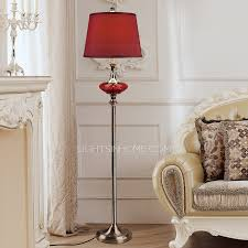 floor lamps for sale and red fabric shade