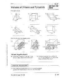 prisms and pyramids worksheets free worksheets library download