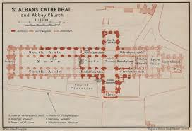 map of st albans st albans cathedral church floor plan hertfordshire 1930
